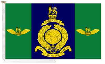 Commando Helicopter Force Royal Marines RM Roped & Toggled 5' x 3' Boat Flag