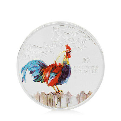 2017 Year Of The Rooster Elizabeth II Commemorative Coin Collection NEW