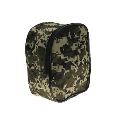 Camouflage Fishing Reel Case Waterproof Protective Canvas Storage Bag Pouch