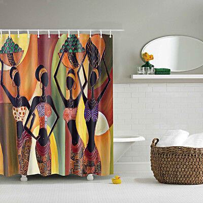 1pcs Retro Shower Curtain Liner Bath Accessories Fabric Drapes Beauty Girl