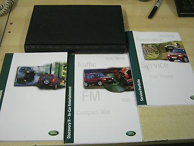 Landrover Discovery 2 Owners Manual Handbook + Service Book 1998-2003