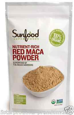 New Sunfood Raw Red Maca Powder Nutrient Rich Energizing Vegan Daily Care Foods