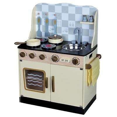 Wooden Vintage Kitchen Role Play Fun by Leomark New (FREE P+P)