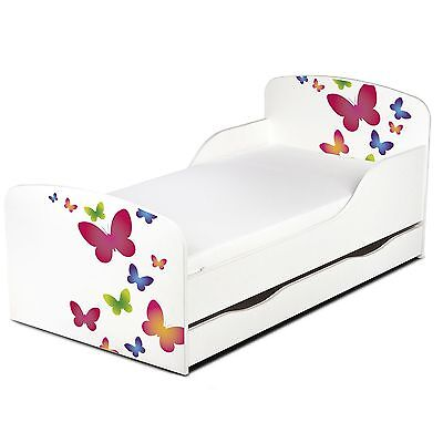 Butterflies Mdf Toddler Bed With Underbed Storage New Kids