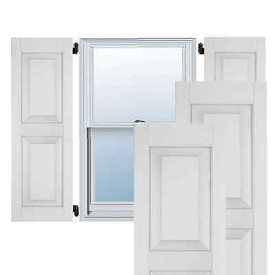 Primed Real Wood Pine Raised Panel Shutters Exterior Rectangle Window Security