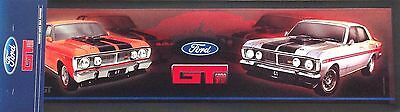 Ford Gt 2 Car Rubber Backed Classic Bar Runner