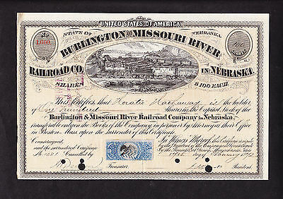Buffet's Berkshire Hathaway Founder Signed Railroad Stock