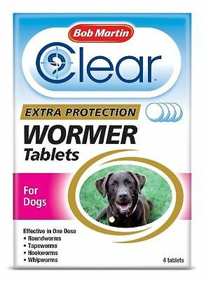 Bob Martin - Clear Extra Protection Wormer Tablets for Dogs x 4 Tablets