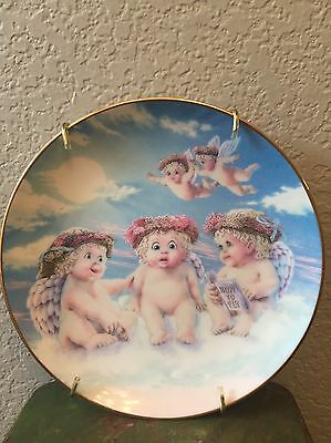 """THE FLYING LESSON  PLATE DREAMSICLES  6 1/2"""" - 1994 Hamilton Collection Kristin"""