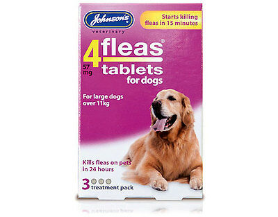 Johnsons 4Fleas Tablets for Dogs and puppies, puppy flea tablets