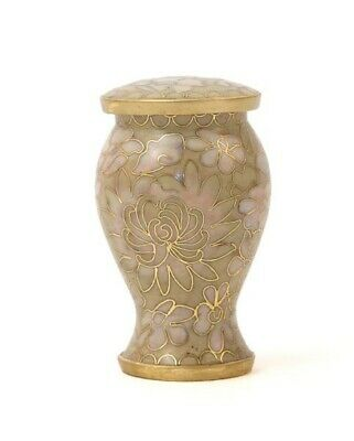 Cloisonne Keepsake Funeral Cremation Urn for Ashes, 5 Cubic Inches