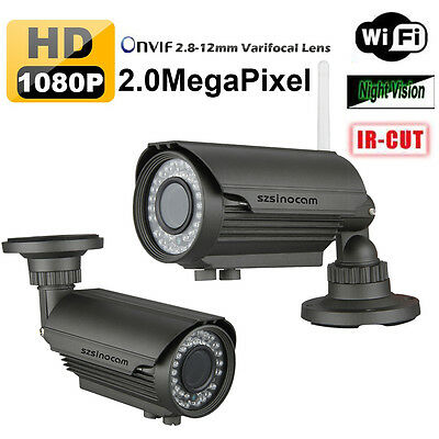 2.8-12mm 1080P HD IP Camera 2MP ONVIF WLAN Telecamera Wireless WIFI impermeabile