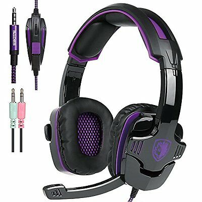 SADES SA930 3.5mm Wire Headset with Microphone  Stereo Sound for PC/PS/Mac/Phone