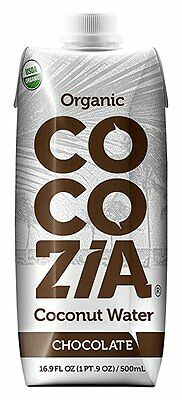 COCOZIA Organic Coconut Water, Chocolate, 16.9 Ounce (Pack of 12)