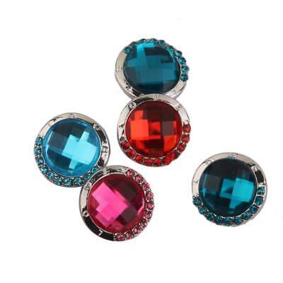 5pcs Mixed Round Crystal Snap Buttons Charm For Noosa Bracelets Necklace DIY