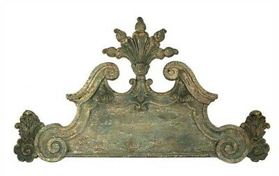Aged Antique Finish BIG wall vintage architectural - Head Board Bed