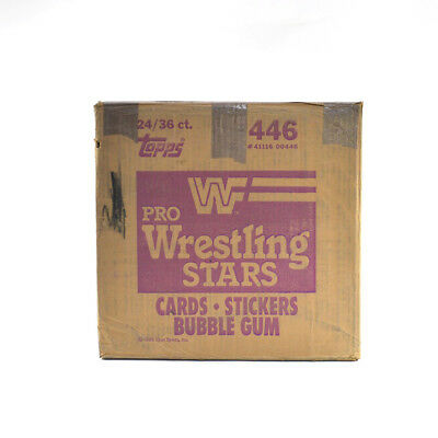 1985 Topps Pro Wrestling Stars EMPTY Wax Box Case #446 24/36 ct.