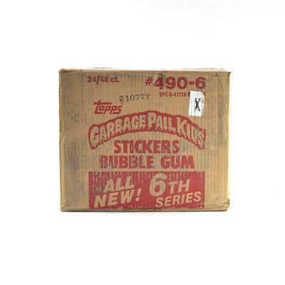 1986 Topps Garbage Pail Kids 6th Series EMPTY Wax Box Case #490-6 24/48 ct.