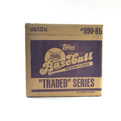 1985 Topps Baseball Traded Series EMPTY Set Case #359-84 100/132 ct.