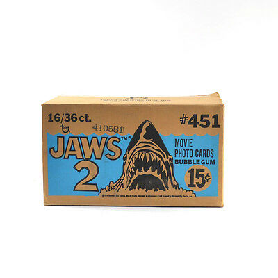 1978 Topps JAWS 2 EMPTY Wax Box Case #451 16/36 ct.
