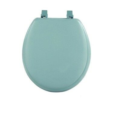 Lt Green Soft Padded Toilet Seat Premium Cushioned Standard Round Cover Comfort