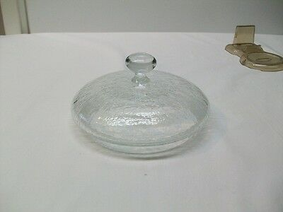 Vintage Clear Crackle Glass Lid