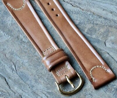 Long Length vintage grey 16mm Shell Cordovan watch band 1950s New Old Stock rare