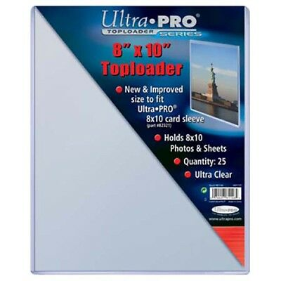 25 Ultra Pro 8 x 10 Hard Plastic Rigid Topload Photo Holders 8x10 toploaders