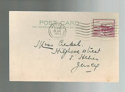 1943 Occupied Jersey Channel Island first day cover fdc  postcard