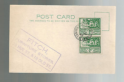 1943 Occupied Jersey Channel Island first day cover fdc Fitch Furniture postcard
