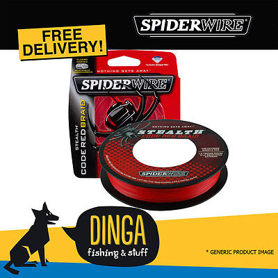 SPIDERWIRE Stealth Code Red 300M 15lb Braid Fishing Line