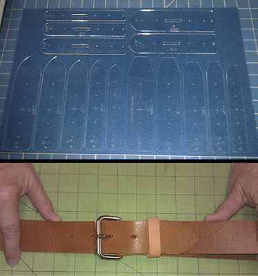 15 Piece Belt Ends Master Template Set - Square & Tapered Ends - Very Handy
