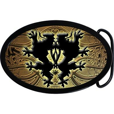Oval Artistic German Lion Belt Buckle.