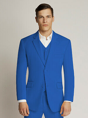 Men's Royal Two-Button Microfibre Coloured Suit By Ambassador
