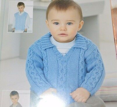 Sirdar Knitting Pattern 1515 Tiny Tots Dk Sweater 0 6 Yrs 300