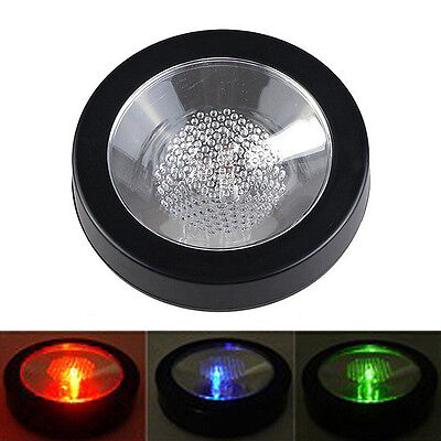New LED Light Glass Bottle Cup Mat Coaster Color Changing For Party Bar Club