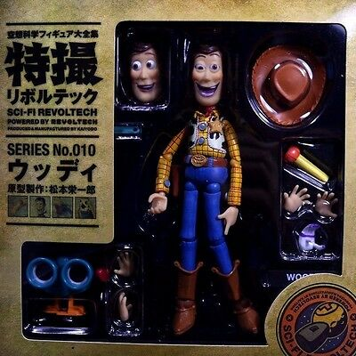 """Disney Toy Story Woody Kaiyodo SCI-Revoltech Series 010 6.5"""" Action Figure New"""