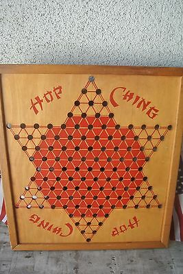 Vintage 40s Hop Ching Chinese Checker Board