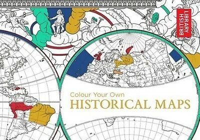 Colour Your Own Historical Maps by British Library Paperback Book (English)