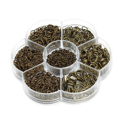 1 Box Mixed Size Iron Plated Open Jump Rings Jewelry Making Link Loop Finding
