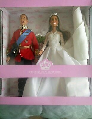 Brand New Arklu Royal Wedding Dolls Prince William and Kate