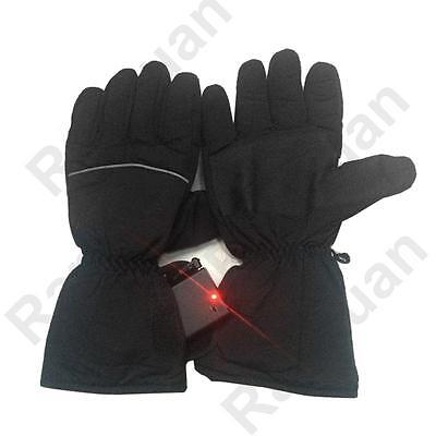 Heated Black Gloves Battery Powered  For Motorcycle Hunting Winter Warmer Outdoo
