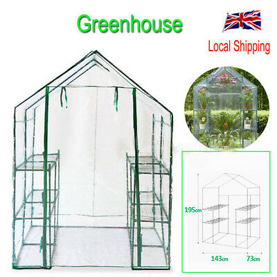 Shelvex Walk In Greenhouse Reinforced Outdoor Garden Compact Green House Frame
