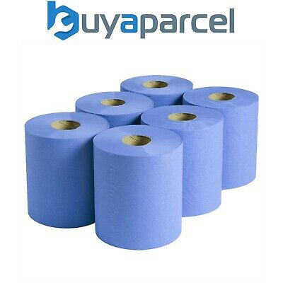 Sealey Paper Blue Roll Blueroll 2-Ply Embossed 150 Meter Centre-feed Pack of 6