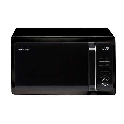 Sharp R664KM 20L 10 Programmes Auto Cook/Defrost Grill Compact Microwave Black