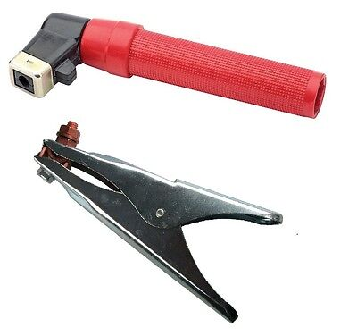 Electrode Holder and Earth Clamp Set - 400 Amp