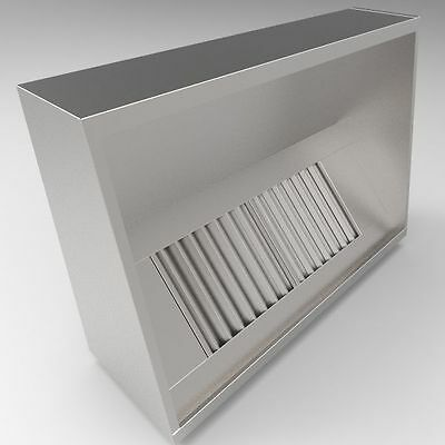 Commercial Kitchen Extraction Canopy Hood 1500 mm