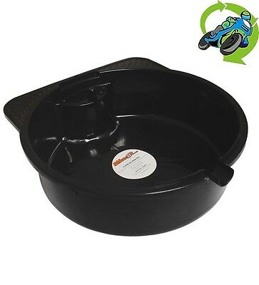New Oil Drain Pan Tray To Suit Motorcycle Motorbike Bike 8 Litre Capacity