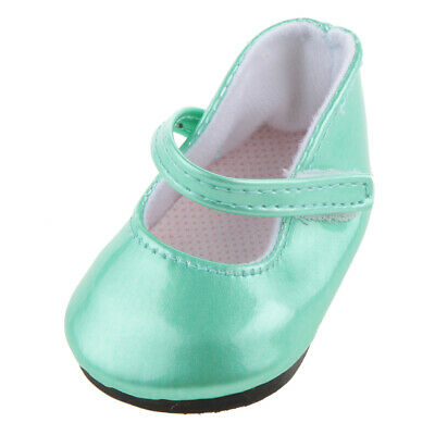"""Jade Green Mary Jane SHOES fit 18"""" AMERICAN GIRL OUR GENERATION Doll Clothes"""