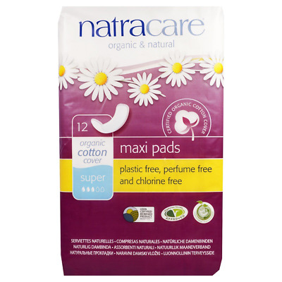 New Natracare Organic & Natural Maxi Pads Perfume Free Daily Women's Protection